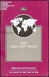 1997 Ford Truck SUV and Van Service Specifications Book Original
