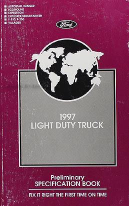 1997 Ford Truck Preliminary Service Specifications Book Original