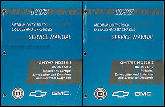 1997 Chevy/GMC B7 Bus Chassis Repair Manual Original 2 Volume Set
