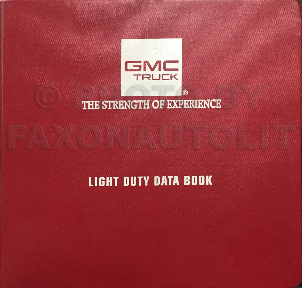 1997 GMC Light Duty Data Book Dealer Album Original