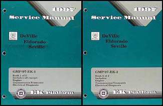 1997 Deville Eldorado Concours Seville Repair Shop Manual Original Set of 2
