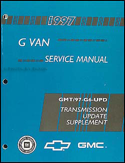 1997 Chevy/GMC G Van Transmission Manual Supplement Original
