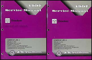 1997 Chevy Geo Tracker Repair Manual Original 2 Volume Set