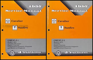 1997 Cavalier & Sunfire Repair Manual Original 2 Volume Set