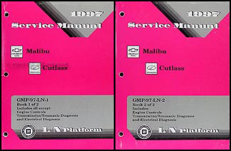 1997 Malibu and Cutlass Repair Manual Original 2 Volume Set