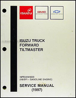 1997 NPR, W4, 4000 Gas Repair Shop Manual Original Isuzu GMC Chevy W Tiltmaster Chevy Wiring Schematics on
