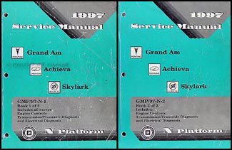 1997 Grand Am/Achieva/Skylark Repair Manual Original 2 Volume Set