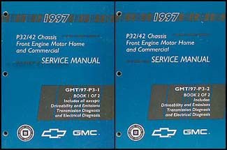 1997 P32 & P42 Stepvan & Motorhome Chassis Repair Shop Manual Set Original