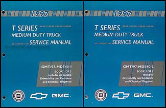 1997 T Series Tilt Cab Medium Duty Truck Service Manual Repair Shop Manual