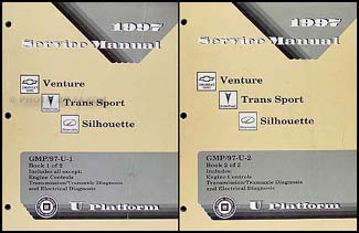 1997 Venture/Trans Sport/Silhouette Repair Shop Manual Original 2 Vol. Set