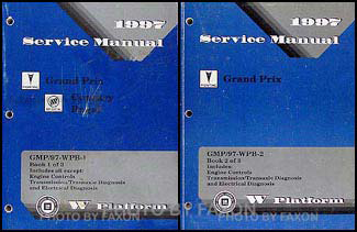 1997 Pontiac Grand Prix Repair Manual Original 2 Volume Set
