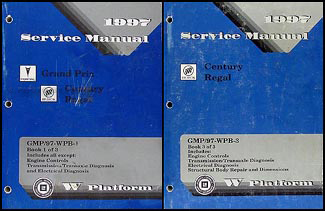 1997 Buick Century & Regal Repair Manual Original 2 Volume Set