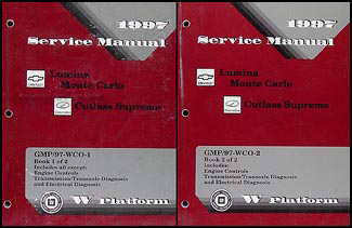 1997 Lumina Monte Carlo Cutlass Supreme Repair Shop Manual Original Set