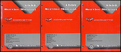 1997 Chevrolet Corvette Repair Manual Original 3 Volume Set