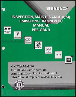 1997 GM Pre-OBDII Emissions Diagnostic Manual Original