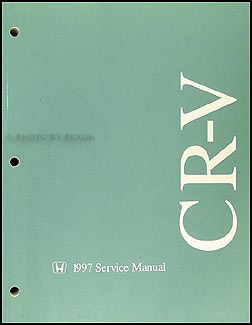 1997 Honda CR-V Repair Shop Manual Original