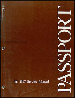 1997 Honda Passport Repair Manual Original