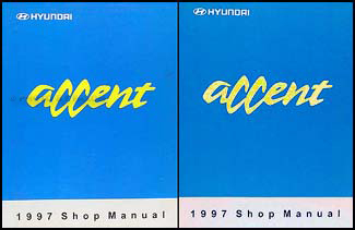 1997 Hyundai Accent Shop Manual Original 2 Volume Set