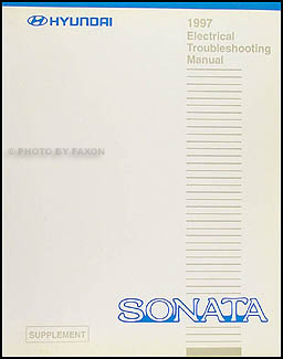 1997 Hyundai Sonata Electrical Troubleshooting Manual Original Supp.