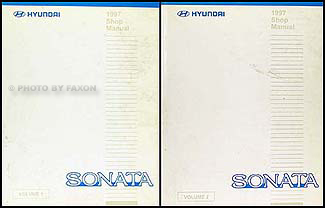 1997 Hyundai Sonata Shop Manual Original 2 Volume Set