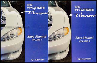 1997 Hyundai Tiburon Shop Manual Original 2 Vol. Set