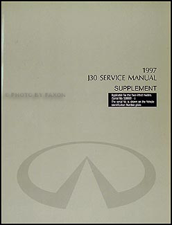 1997.5 Infiniti J30 Repair Shop Manual Supplement Original VIN# 500001 and up