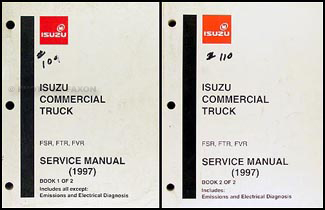 1997 FSR, FTR, FVR, W6, W7 Truck Repair Manual Original 2 Volume Set