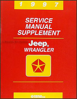 1997 Jeep Wrangler Repair Manual Supplement Original