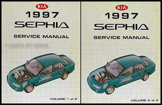 1997 Kia Sephia Repair Manual 2 Volume Set Original