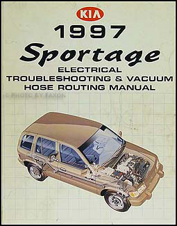 1997 Kia Sportage Electrical Troubleshooting & Vacuum Routing Manual