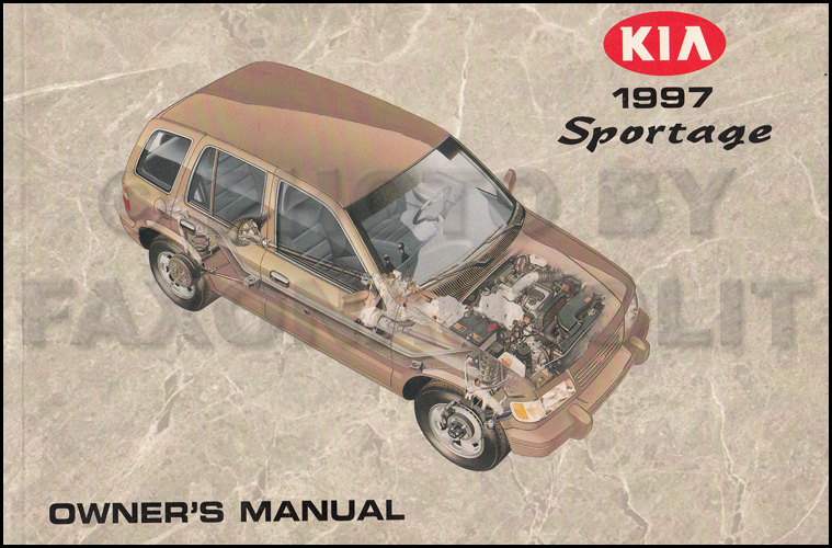 1997 Kia Sportage Owners Manual Original