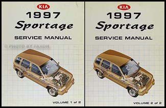 1997 Kia Sportage Repair Manual 2 Volume Set Original