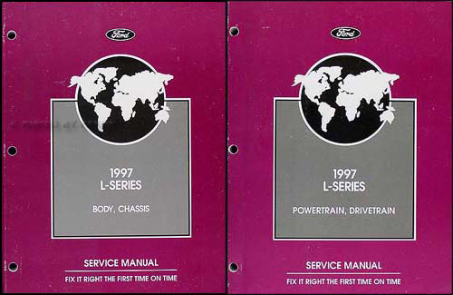1997 Ford L-Series 7000-9000 Repair Shop Manual Original 2 Volume Set