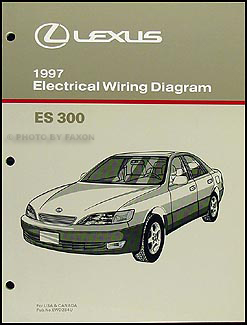 1997 lexus es 300 wiring diagram manual original rh faxonautoliterature com 1997 lexus ls400 radio wiring diagram