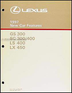 1997 Lexus GS SC LS and LX 450 Features Manual Original
