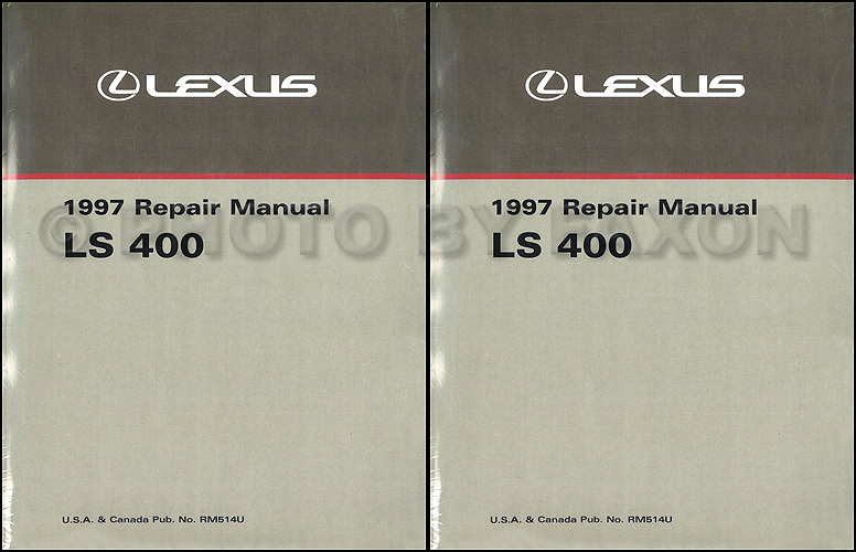 1997 Lexus LS 400 Repair Manual Original