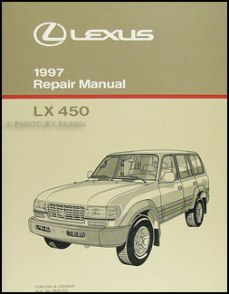 1997 Lexus LX 450 Repair Manual Original