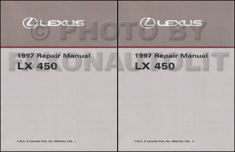 1997 Lexus Lx 450 Repair Shop Manual Original