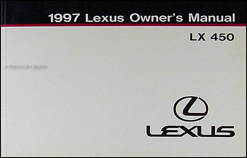 1997 Lexus LX 450 Owners Manual Original
