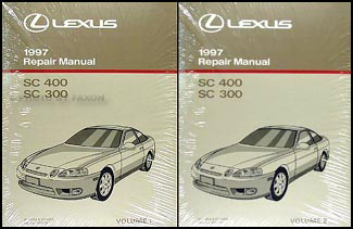 1997 Lexus SC 300/400 Repair Manual Original 2 Volume Set