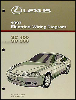 1997 Lexus SC 300/400 Wiring Diagram Manual Original