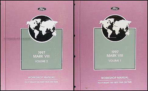 1997 Lincoln Mark VIII Shop Manual Original 2 Volume Set