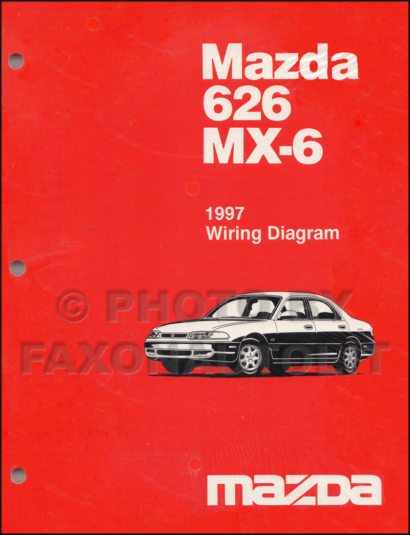 1997 Mazda 626 and MX-6 Wiring Diagram Manual Original