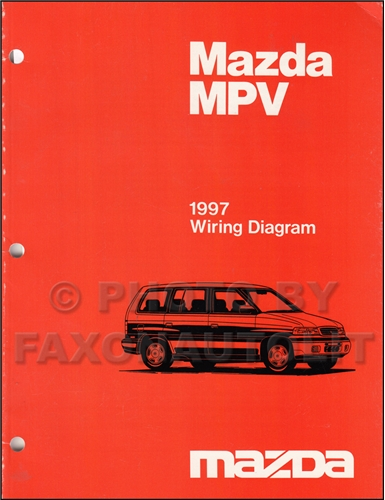 1997 Mazda MPV Wiring Diagram Manual Original