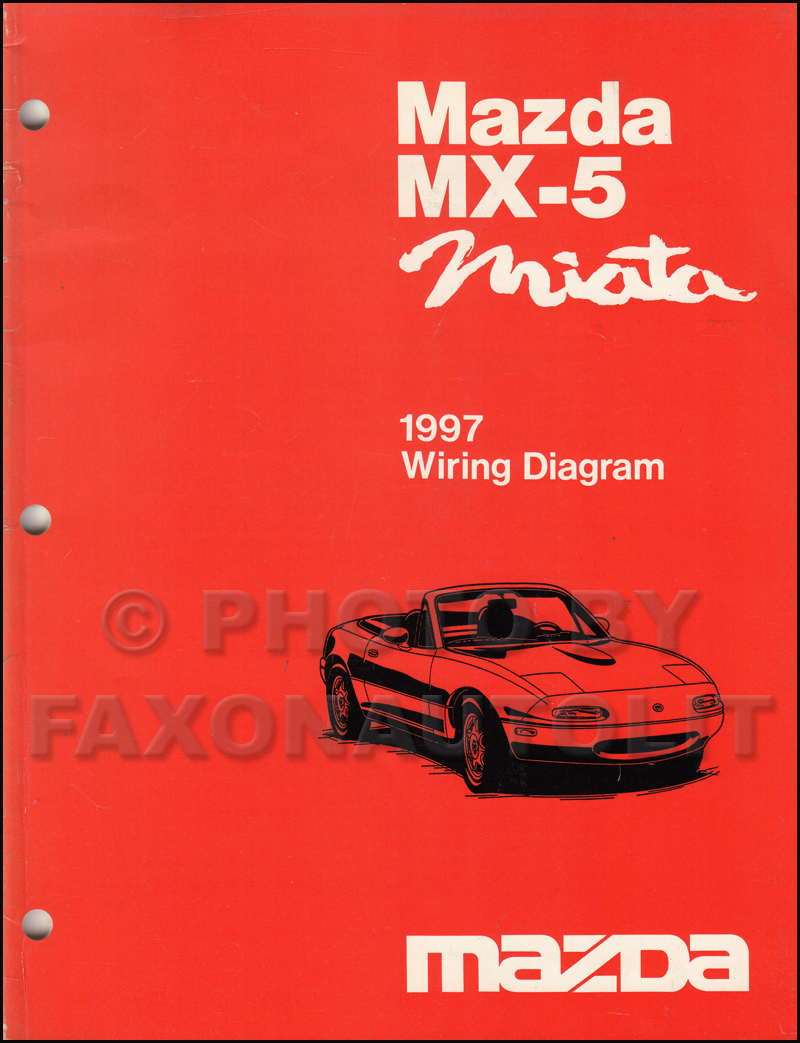 1997 Mazda MX-5 Miata Wiring Diagram Manual Original