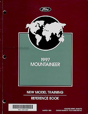 1997 Mercury Mountaineer Original Training Reference Manual 97