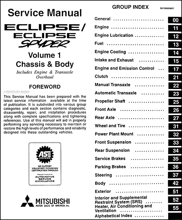 1997 mitsubishi eclipse/eclipse spyder repair shop manual ... stereo wiring diagram for 2003 mitsubishi eclipse