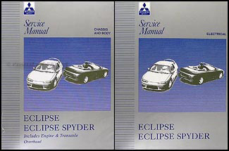 1997 Mitsubishi Eclipse/Eclipse Spyder Repair Manual Set Original