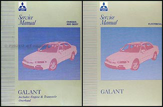 1997 Mitsubishi Galant Repair Manual Set Original