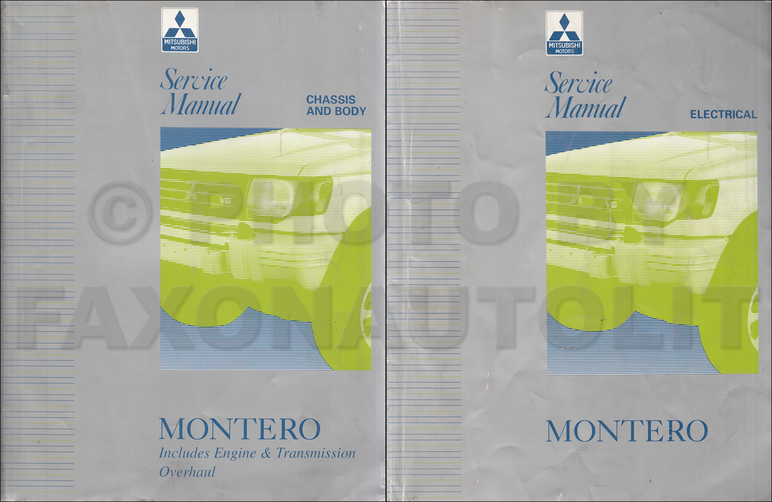 1997 Mitsubishi Montero Repair Shop Manual Set Original